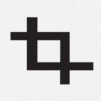 Ritaglia l'icona segno illustrazione