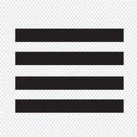 Allinea l'illustrazione del segno dell'icona giustificata testo