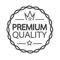 Icona del badge di qualità Premium vettore