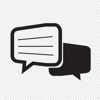 Icona di dialogo chat vettore