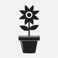 Icona del vaso di fiori