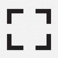 Focus icona segno illustrazione