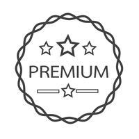 Icona di etichetta premium vintage vettore