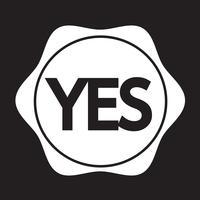 Icona del pulsante Sì vettore