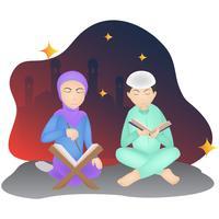 eid illustrazione di carattere mubarak