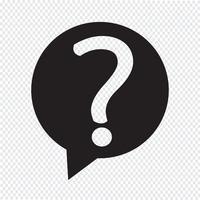 Icona del segno del punto interrogativo vettore