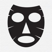 Icona maschera facciale vettore