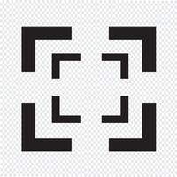 Focus icona segno illustrazione vettore