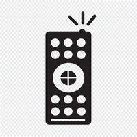 icona di controllo remoto tv vettore