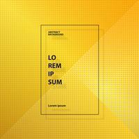 Fondo geometrico astratto del modello del quadrato giallo moderno dell'oro. Puoi utilizzare per pubblicità, copertina, grafica, relazione annuale. vettore