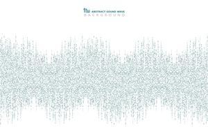 Modello quadrato blu astratto di sfondo disegno dell'onda sonora. È possibile utilizzare per annunci, poster di festival musicali, stampa, copertina, opere d'arte. vettore