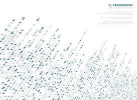 Tecnologia del modello del quadrato del tono di blu astratto del fondo di fondo geometrico. Decorare con un disegno di copertura in rete. È possibile utilizzare per pubblicità ad alta tecnologia moderna, poster, copertina, relazione annuale. vettore