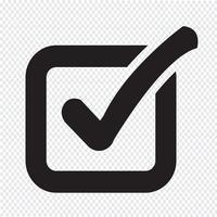 Controlla l'icona del pulsante elenco vettore