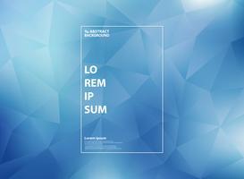 Astratto moderno blu sfumato nel triangolo basso poligono modelli di sfondo. È possibile utilizzare per opere d'arte di copertina, annunci, poster, web, stampa, report.