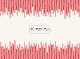 Il corallo vivente rosa astratto del trattino con le linee nere della banda modella il fondo di progettazione moderna. È possibile utilizzare per annuncio, poster, stampa, modello, opuscolo, volantino, opere d'arte. vettore