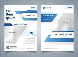 Colore blu gradiente astratto di sfondo tecnologia moderna brochure modello flyer. Decorazione per annuncio, poster, libro, flyer, relazione annuale. vettore