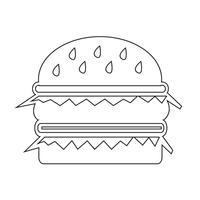 segno di simbolo dell'icona dell'hamburger