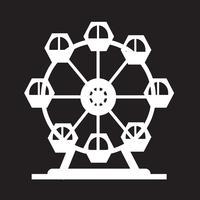 Icona della ruota panoramica vettore