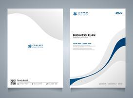 Modello dell'opuscolo moderno di colore astratto linea blu. È possibile utilizzare per il layout aziendale, lo sfondo del design di copertina, i report annuali. vettore