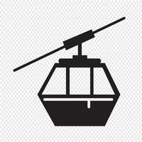 segno di simbolo dell'icona del cavo