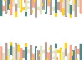 Modello di linee striscia colorata astratta dash di sfondo minimale. Design moderno per opere d'arte, pubblicità, poster, web, libri, stampa.