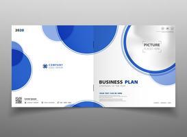 Fondo blu del modello dell'aletta di filatoio dell'opuscolo del cerchio di pendenza astratta di tecnologia. È possibile utilizzare per la presentazione aziendale, annuncio, poster, modello di progettazione, opere d'arte. vettore