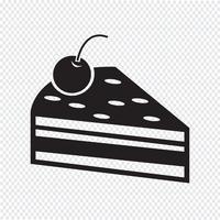 Icona pezzo di torta vettore