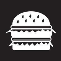 segno di simbolo dell'icona dell'hamburger vettore