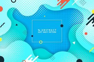 Disegno astratto colorato forma geometrica di sfondo moderno. È possibile utilizzare per il modello di fantasia di web, annunci, poster, opere d'arte, stampa.