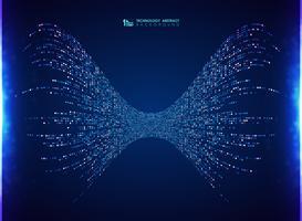 Linee di energia blu di progettazione del modello del quadrato astratto della tecnologia fondo della decorazione. È possibile utilizzare per il sistema di analisi dei big data, pubblicità, poster, grafica, stampa. vettore