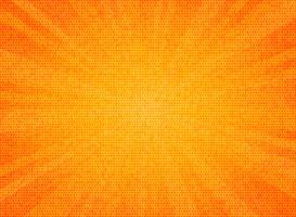 Il sole astratto ha scoppiato il fondo arancio di progettazione di struttura del modello del cerchio di colore. È possibile utilizzare per poster di vendita, annuncio di promozione, opere d'arte di testo, design della copertina.