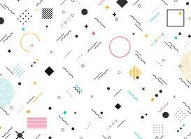 Forme funky di forme geometriche astratte del fondo moderno variopinto del modello. È possibile utilizzare per il design moderno di nuovi elementi di design, copertina, annuncio, poster, stampa.
