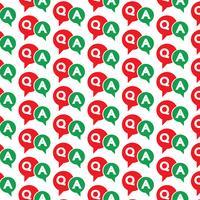 Pattern background Domanda e risposta Icona a fumetto