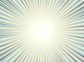 Il sole astratto ha scoppiato l'annata della priorità bassa di disegno del reticolo del semitono. Colori verdi e gialli con highlight di strisce a fumetti. Puoi usare per carta da parati, annuncio, copertina, stampa.