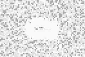 Astratti colori grigi e bianchi che decorano in pixelated design pattern di sfondo. È possibile utilizzare per annunci, poster, opere d'arte, modello. vettore