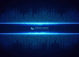 Tecnologia blu astratta del fondo del modello del collegamento quadrato. È possibile utilizzare per la progettazione grafica futuristica, hi tech, poster, libri, opere d'arte.