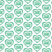 Pattern background Sei qui icona