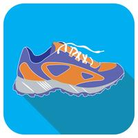 Icona di vettore blu scarpa sportiva