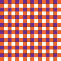 Pattern di tessuto a quadri viola e arancio
