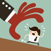 Fuga. Illustrazione di concetto del fumetto di affari. Concetto di idea.