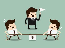 Concetto di concorrenza Illustrazione di concetto del fumetto di affari. Concetto di idea.