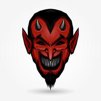 Faccia da diavolo rosso vettore