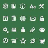 Icone piatte Web vettore