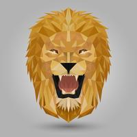 testa di leone geometrica