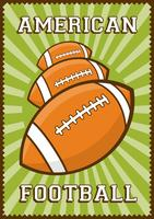Contrassegno di retro manifesto di arte di schiocco di football americano di sport di rugby