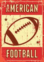 Contrassegno di retro manifesto di arte di schiocco di football americano di sport di rugby vettore