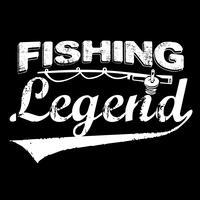 Tipografia di pesca leggenda vettore