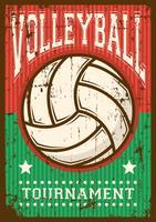Volley Ball Volleyball Sport Retro Pop Art Poster Segnaletica