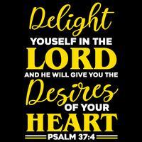 Deliziati nel Signore vettore