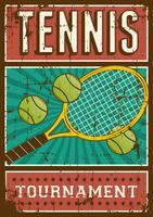 Segnaletica per poster retrò di sport da tennis vettore